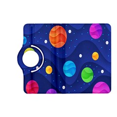 Planet Space Moon Galaxy Sky Blue Polka Kindle Fire Hd (2013) Flip 360 Case by Mariart