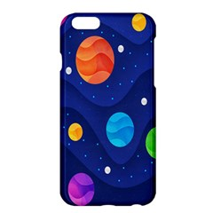 Planet Space Moon Galaxy Sky Blue Polka Apple Iphone 6 Plus/6s Plus Hardshell Case by Mariart