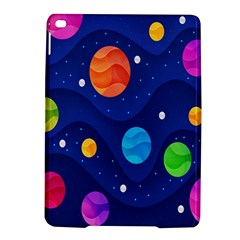 Planet Space Moon Galaxy Sky Blue Polka Ipad Air 2 Hardshell Cases by Mariart