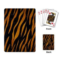Skin3 Black Marble & Yellow Grunge (r) Playing Card by trendistuff