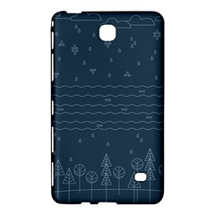 Rain Hill Tree Waves Sky Water Samsung Galaxy Tab 4 (8 ) Hardshell Case  by Mariart