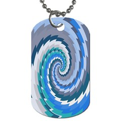 Psycho Hole Chevron Wave Seamless Dog Tag (two Sides) by Mariart