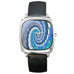 Psycho Hole Chevron Wave Seamless Square Metal Watch by Mariart