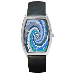 Psycho Hole Chevron Wave Seamless Barrel Style Metal Watch by Mariart