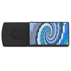 Psycho Hole Chevron Wave Seamless Rectangular Usb Flash Drive by Mariart