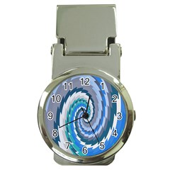 Psycho Hole Chevron Wave Seamless Money Clip Watches by Mariart