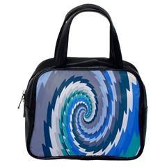 Psycho Hole Chevron Wave Seamless Classic Handbags (one Side)