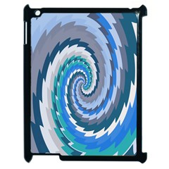 Psycho Hole Chevron Wave Seamless Apple Ipad 2 Case (black) by Mariart
