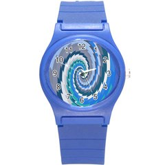 Psycho Hole Chevron Wave Seamless Round Plastic Sport Watch (s) by Mariart