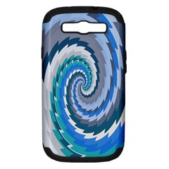 Psycho Hole Chevron Wave Seamless Samsung Galaxy S Iii Hardshell Case (pc+silicone) by Mariart