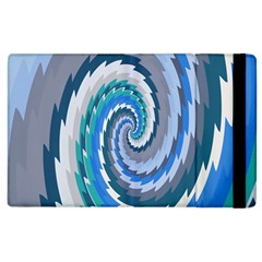 Psycho Hole Chevron Wave Seamless Apple Ipad 2 Flip Case by Mariart