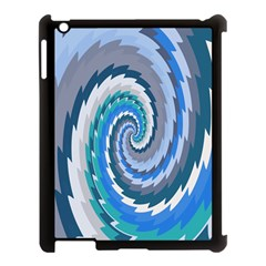 Psycho Hole Chevron Wave Seamless Apple Ipad 3/4 Case (black) by Mariart