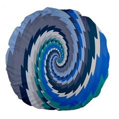 Psycho Hole Chevron Wave Seamless Large 18  Premium Flano Round Cushions by Mariart