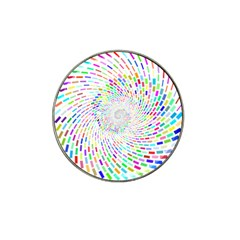 Prismatic Abstract Rainbow Hat Clip Ball Marker by Mariart