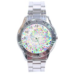 Prismatic Abstract Rainbow Stainless Steel Analogue Watch by Mariart