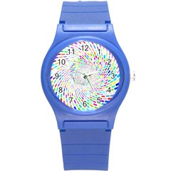 Prismatic Abstract Rainbow Round Plastic Sport Watch (s) by Mariart