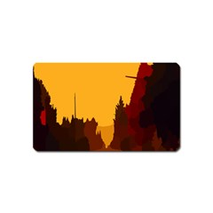 Road Trees Stop Light Richmond Ace Magnet (name Card) by Mariart