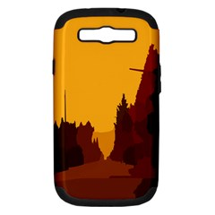 Road Trees Stop Light Richmond Ace Samsung Galaxy S Iii Hardshell Case (pc+silicone) by Mariart