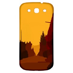 Road Trees Stop Light Richmond Ace Samsung Galaxy S3 S Iii Classic Hardshell Back Case by Mariart