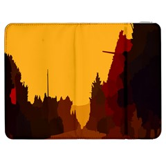 Road Trees Stop Light Richmond Ace Samsung Galaxy Tab 7  P1000 Flip Case by Mariart