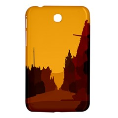 Road Trees Stop Light Richmond Ace Samsung Galaxy Tab 3 (7 ) P3200 Hardshell Case  by Mariart