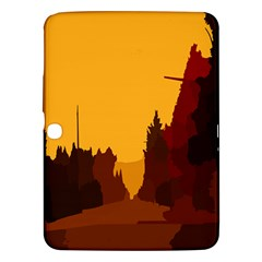 Road Trees Stop Light Richmond Ace Samsung Galaxy Tab 3 (10 1 ) P5200 Hardshell Case  by Mariart