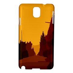 Road Trees Stop Light Richmond Ace Samsung Galaxy Note 3 N9005 Hardshell Case by Mariart