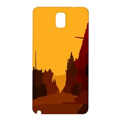 Road Trees Stop Light Richmond Ace Samsung Galaxy Note 3 N9005 Hardshell Back Case by Mariart
