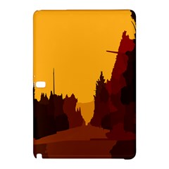 Road Trees Stop Light Richmond Ace Samsung Galaxy Tab Pro 12 2 Hardshell Case by Mariart