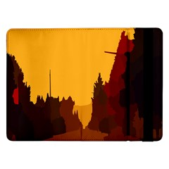 Road Trees Stop Light Richmond Ace Samsung Galaxy Tab Pro 12 2  Flip Case by Mariart