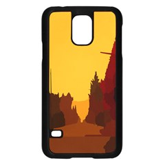 Road Trees Stop Light Richmond Ace Samsung Galaxy S5 Case (black) by Mariart
