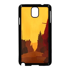Road Trees Stop Light Richmond Ace Samsung Galaxy Note 3 Neo Hardshell Case (black) by Mariart