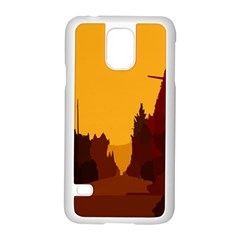 Road Trees Stop Light Richmond Ace Samsung Galaxy S5 Case (white) by Mariart