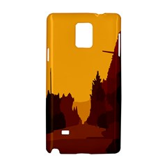Road Trees Stop Light Richmond Ace Samsung Galaxy Note 4 Hardshell Case by Mariart