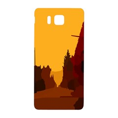 Road Trees Stop Light Richmond Ace Samsung Galaxy Alpha Hardshell Back Case by Mariart
