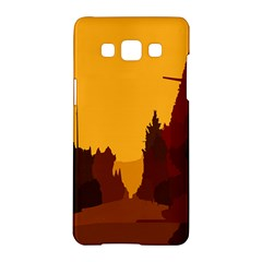Road Trees Stop Light Richmond Ace Samsung Galaxy A5 Hardshell Case  by Mariart