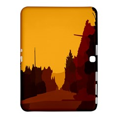Road Trees Stop Light Richmond Ace Samsung Galaxy Tab 4 (10 1 ) Hardshell Case  by Mariart