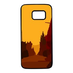 Road Trees Stop Light Richmond Ace Samsung Galaxy S7 Black Seamless Case by Mariart
