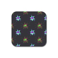 Random Doodle Pattern Star Rubber Square Coaster (4 Pack)  by Mariart