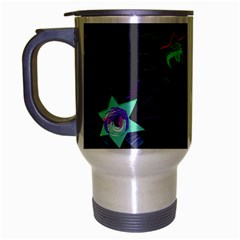 Random Doodle Pattern Star Travel Mug (silver Gray) by Mariart