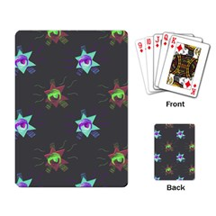 Random Doodle Pattern Star Playing Card by Mariart