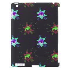 Random Doodle Pattern Star Apple Ipad 3/4 Hardshell Case (compatible With Smart Cover)