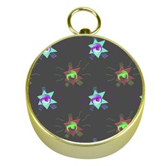Random Doodle Pattern Star Gold Compasses by Mariart