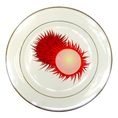Rambutan Fruit Red Sweet Porcelain Plates by Mariart