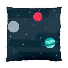 Space Pelanet Galaxy Comet Star Sky Blue Standard Cushion Case (two Sides) by Mariart