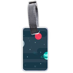 Space Pelanet Galaxy Comet Star Sky Blue Luggage Tags (one Side)  by Mariart