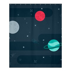 Space Pelanet Galaxy Comet Star Sky Blue Shower Curtain 60  X 72  (medium)  by Mariart
