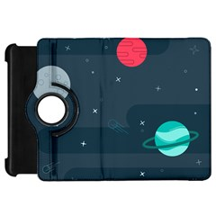 Space Pelanet Galaxy Comet Star Sky Blue Kindle Fire Hd 7  by Mariart