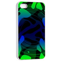 Spectrum Sputnik Space Blue Green Apple Iphone 4/4s Seamless Case (white) by Mariart