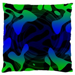Spectrum Sputnik Space Blue Green Large Cushion Case (two Sides)